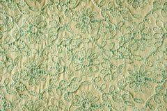Tessuto indiano con ricamo floreale Fotografia Stock