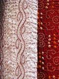 Tessuto indiano, primo piano fotografia stock