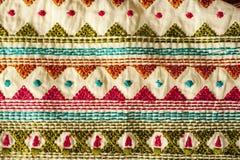 Tessuto indiano tradizionale Fotografia Stock Libera da Diritti