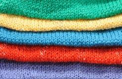 Tessuto lavorato a maglia Immagine Stock