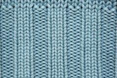 Tessuto lavorato a maglia blu Fotografie Stock Libere da Diritti