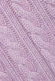 Tessuto lavorato a maglia lillà. fotografie stock libere da diritti