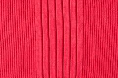 Tessuto lavorato a maglia rosso Fotografia Stock