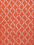 Tessuto lavorato a maglia rosso del merletto Fotografia Stock Libera da Diritti