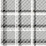 Tessuto leggero senza cuciture del modello del tartan Cellule in bianco e nero su un fondo grigio Fotografie Stock Libere da Diritti