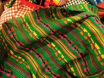 Tessuto messicano del modello nel verde fotografia stock