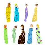 Tessuto modellato Draped delle ragazze royalty illustrazione gratis