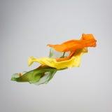 Tessuto multicolore astratto nel moto Fotografia Stock Libera da Diritti