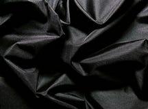 Tessuto nero Immagine Stock