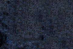 Tessuto nero-e-blu di struttura Fotografia Stock Libera da Diritti