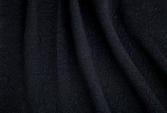 Tessuto nero molle Fotografia Stock Libera da Diritti