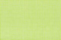 Tessuto a quadretti verde e bianco Fotografia Stock
