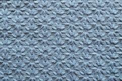 Tessuto ricamato del blu fotografia stock libera da diritti