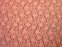 Tessuto rosa del pizzo Fotografia Stock Libera da Diritti