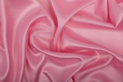 Tessuto rosa del raso come fondo Fotografia Stock