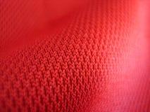 Tessuto rosso Fotografia Stock