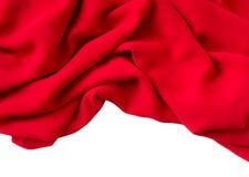 Tessuto rosso fotografie stock