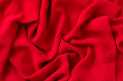 Tessuto rosso Immagini Stock Libere da Diritti