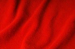 Tessuto rosso come priorità bassa Fotografia Stock Libera da Diritti