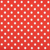 Tessuto rosso con i pois bianchi Fotografie Stock