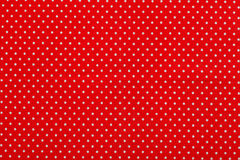 Tessuto rosso del punto di Polka Fotografia Stock Libera da Diritti