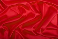 Tessuto rosso del raso, lusso del fondo Fotografia Stock Libera da Diritti