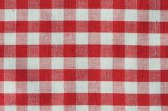 Tessuto rosso dell'assegno Fotografia Stock