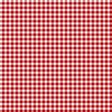 Tessuto rosso di picnic Fotografie Stock Libere da Diritti