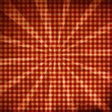 Tessuto rosso di picnic Fotografia Stock Libera da Diritti