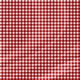 Tessuto rosso di picnic Fotografie Stock