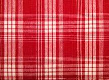 Tessuto rosso in una gabbia fotografie stock libere da diritti
