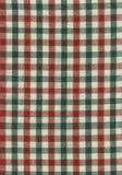 Tessuto rosso, verde e beige Immagine Stock Libera da Diritti