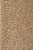 Tessuto ruvido del lino con i cicli Fotografie Stock Libere da Diritti