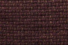 Tessuto scuro del fondo di struttura del panno Dettaglio del primo piano della materia tessile immagini stock