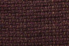 Tessuto scuro del fondo di struttura del panno Dettaglio del primo piano della materia tessile immagine stock libera da diritti