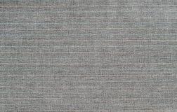 Tessuto a strisce della lana grigia Fotografia Stock Libera da Diritti