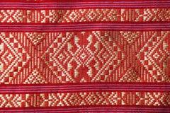 Tessuto tailandese tradizionale Immagine Stock