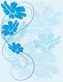 Tessuto tenero blu del fondo floreale Immagine Stock Libera da Diritti