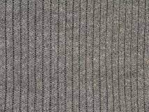 Tessuto tricottato costolato grigio di polyacryl del cotone di Heather fotografia stock libera da diritti