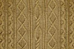 Tessuto tricottato modellato Immagini Stock