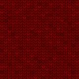 Tessuto tricottato senza cuciture rosso illustrazione di stock