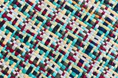 Tessuto variopinto del primo piano Fotografia Stock