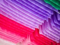 Tessuto variopinto in una fila, concetto delle strisce del fondo Immagini Stock Libere da Diritti