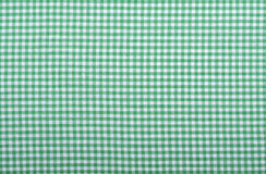 Tessuto verde Checkered Fotografia Stock