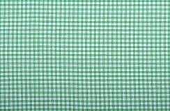 Tessuto verde Checkered Fotografia Stock