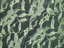 Tessuto verde del pizzo Fotografie Stock Libere da Diritti