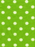 Tessuto verde del pois Immagine Stock