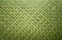 Tessuto verde della paglia Fotografia Stock Libera da Diritti
