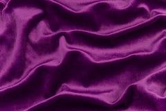 Tessuto viola del velluto Fotografie Stock Libere da Diritti