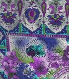 Tessuto viola di etno Immagini Stock